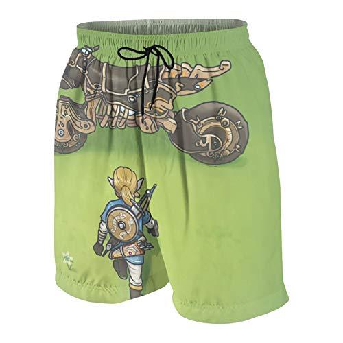LAOLUCKY Li-nk Ma-st-er S-Word Teens Beach Pants Casual Shorts für Jungen Mädchen Badeshorts schnelltrocknend Sport Beachwear Gr. 48 W/33 L, L-e-ge-nd of Z-e-ld-a Li-n-k Bike