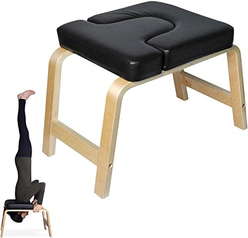 Banco de Yoga para Inversiones con Reposacabezas, Silla de Inversion de Yoga Banco Soporte para la Cabeza Taburete de Yoga por Poweka