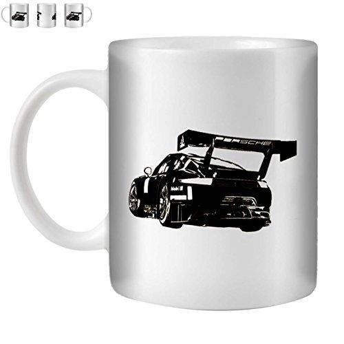 Stuff4 Tee/Kaffee Becher 350ml/Schwarz/P 911 GT3 R/Weißkeramik/ST10