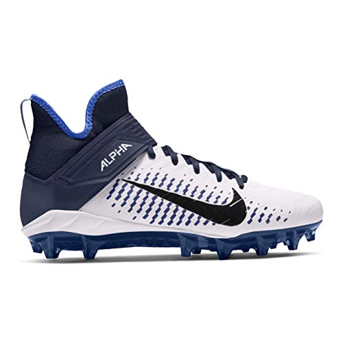 Nike Alpha Menace Pro 2 Mid American Football Rasen Schuhe - weiß/Navy Gr. 12 US
