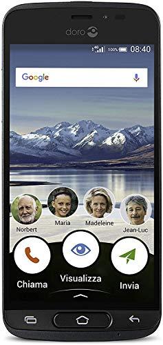 Doro 8040 (entsperrt) 16 GB, 8 MP Kamera, 12,7 cm Display, GPS, Smartphone für Senior (Graphit), ohne Ladeschale
