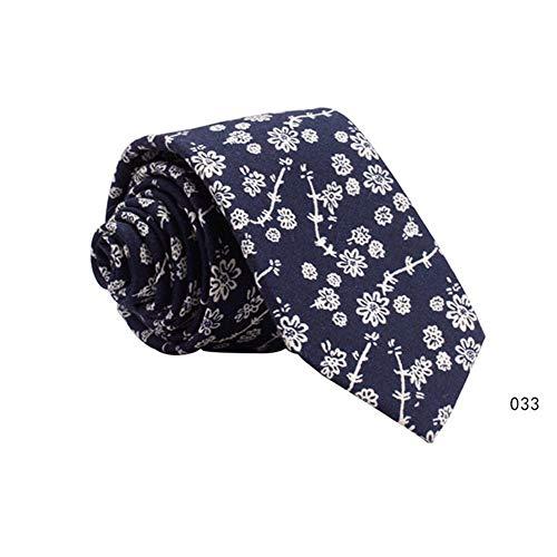 YAOSHI-Bow tie/tie Cravatte e Papillon per Cravatte da Uomo Fiori Grande Tessuto di Cotone per Matrimoni Missioni Danze Sposo Regali Groomsmen (Colore : 033)