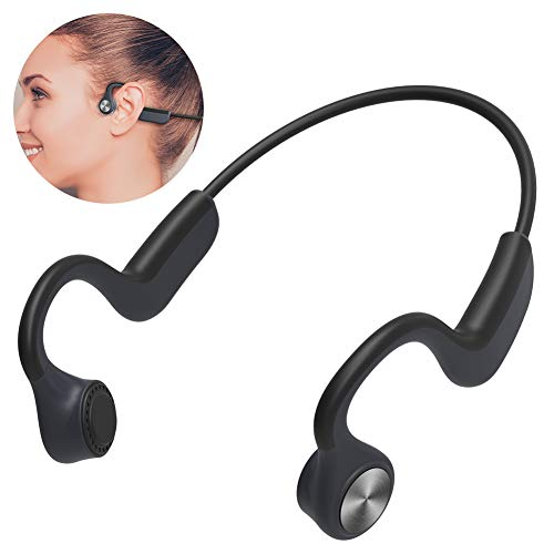 AKASO Bone Conduction Headphones Open Ear with Microphone Wireless Bluetooth 5.0 Sports Headsets