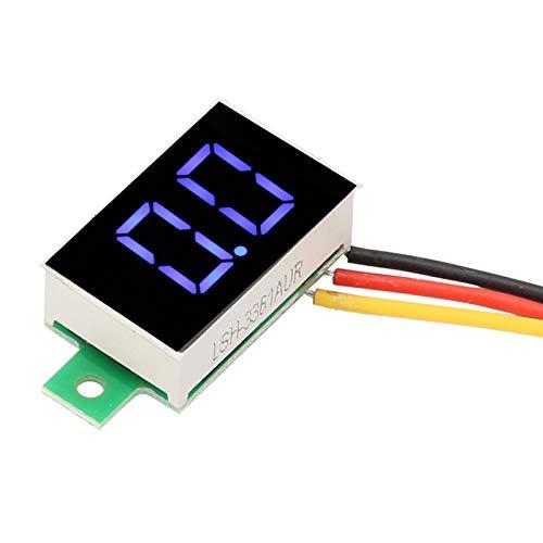 Monitor de voltaje de alta estabilidad DC 0-100V DC Voltímetro de bajo consumo de 3 colores con pantalla LED