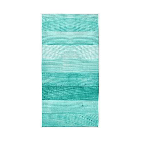 ALAZA Toallas de madera verde turquesa turquesa de algodón, toalla de cara, decoración de baño, 76 x 38 cm
