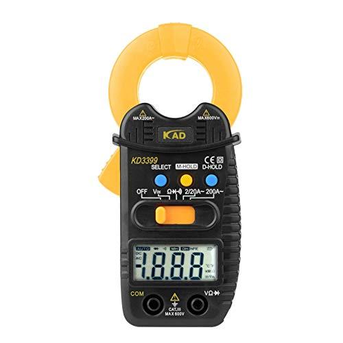 crazerop Pinza amperimétrica automática, multímetro digital, amperimetro portátil, dispositivo de prueba de resistencia de corriente