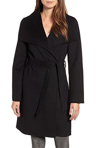 Price comparison product image T Tahari Women's Ellie Double Face Wool Blend Wrap Coat,  Black (XL)