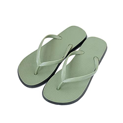 QBLDX Sandalias Cómodas de La Correa de La Playa de La Estera de La Yoga de Las Chancletas para Mujer con La Ayuda del Arco,Green-4-5UK