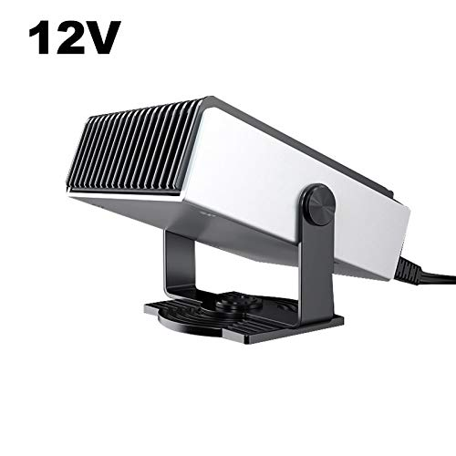 Sunydog Calentador portátil para automóvil, 12 V / 150 W, ventilador automático, calentador rápido, desempañador, ventilador, calentador y enfriador, se conecta automáticamente al encendedor de cigarr