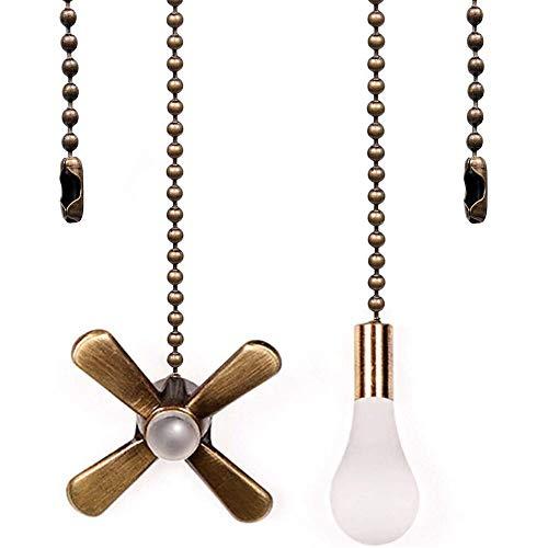 Hunter - Juego de tiradores para ventilador de techo de 13.6 pulgadas con conector de 3 mm de diámetro, cadena para ventilador de bola (bronce)