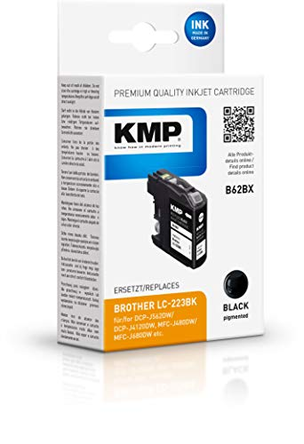 KMP Druckerpatrone für LC-223BK Schwarz - Kompatibel - Tintenpatrone für Brother DCP-J4120DW / MFC-J4420DW - Office Druckerzubehör