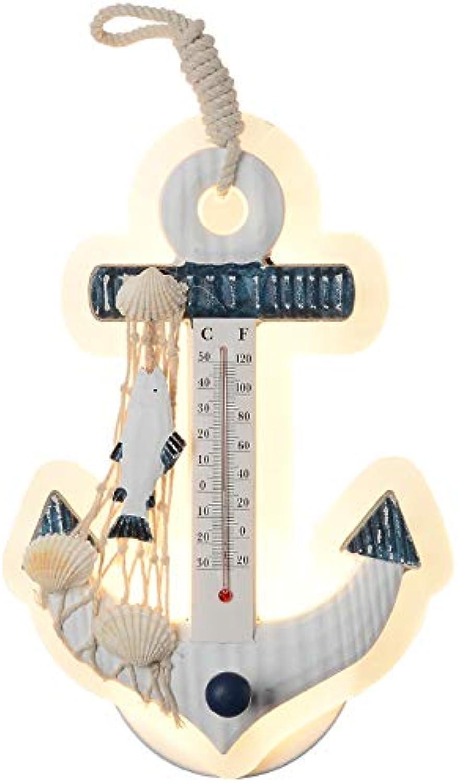 AGECC Mediterrane Stil Wandleuchte Thermometer Szene Layout Anhnger Kinder Schlafzimmer Lampe