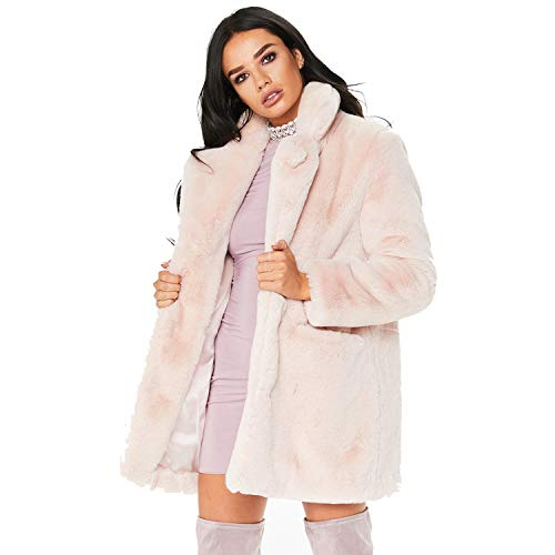 Rvxigzvi Womens Faux Fur Coat Plus Size Parka Jacket Long Trench Winter Warm Thick Outerwear Overcoat XS-4XL (Light Pink-, US S/4-6)