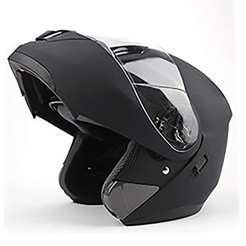 QRY Mate Negro Máscara De Cara Completa Adultos Casco De Bicicleta Montar...