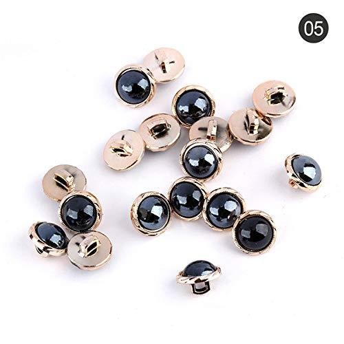 Hydz Botón de Ropa de Mujer de Perlas de cerámica de 30