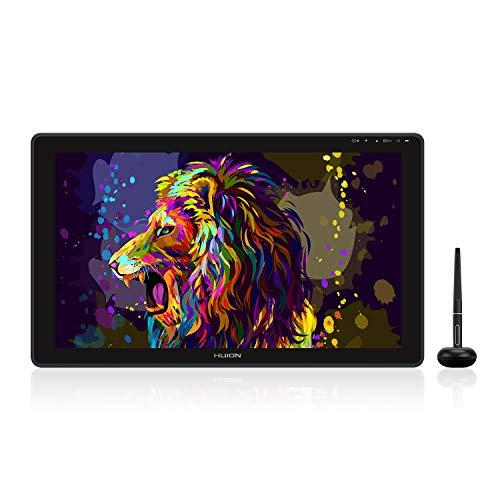 HUION Kamvas 22 2020 Tableta Gráfica con Pantalla, Monitor de Dibujo Gráfico de 21,5 Pulgadas con Película Mate Antirreflejo, 120% sRGB, PW517 ±60°de Inclinación, Compatible con Mac Windows Android