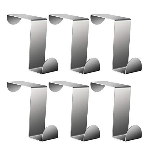 Ganchos para colgar en la puerta de AIEX 6 unidades, resistentes en forma de Z para cocina, baño, dormitorio, oficina