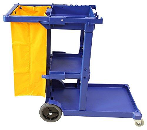 Carro de limpieza multifunción azul con bolsa