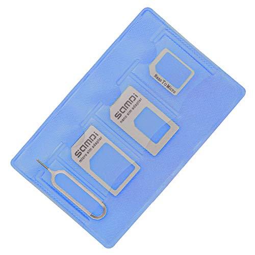 Kit adaptador de tarjeta SIM (Nano Micro estándar SIM Eject Pin), especialmente diseñado para iPhone X 8 7 6 5 4 usuarios, mientras que útil para Samsung Nokia Huawei Mi LG Nokia Users, color dorado