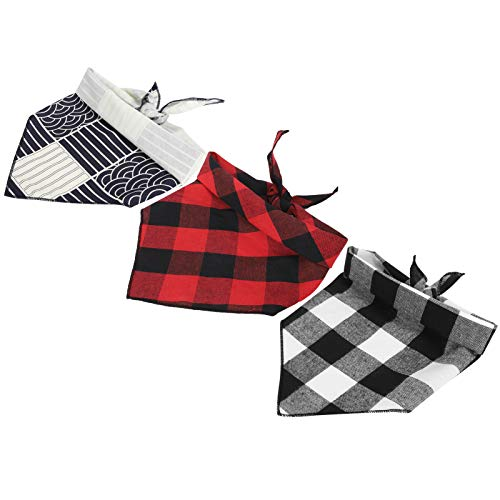 DAUERHAFT Disfraz de Mascota para Perro, Babero Triangular, Cuello de Perro, Bufanda, Navidad para Cachorros, Gatos(S)
