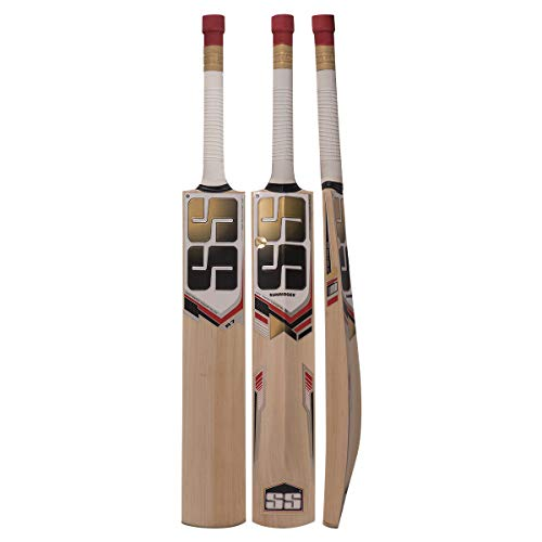 SS Kashmir Willow Cricket Bat, Short Handle (Short Handle, R-7)