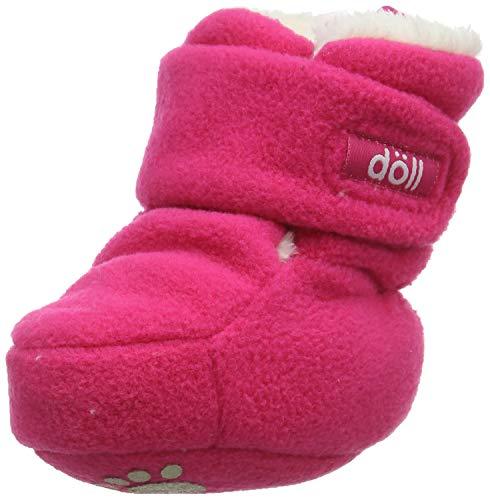 Döll Baby-Mädchen Babyschuhe Fleece Fäustlinge, Rosa (Raspberry Pink 2210), Neugeboren (Herstellergröße: 0, 5)