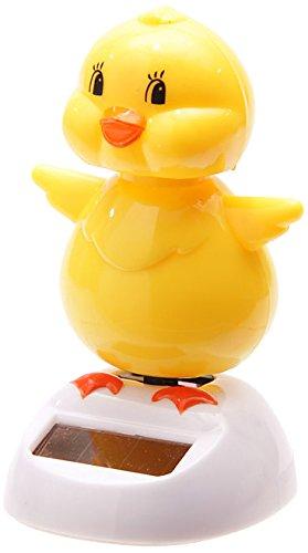 Puckator FF34 Solar-Powered Cute Duck Ornament 6 x 5.5 x 9 cm