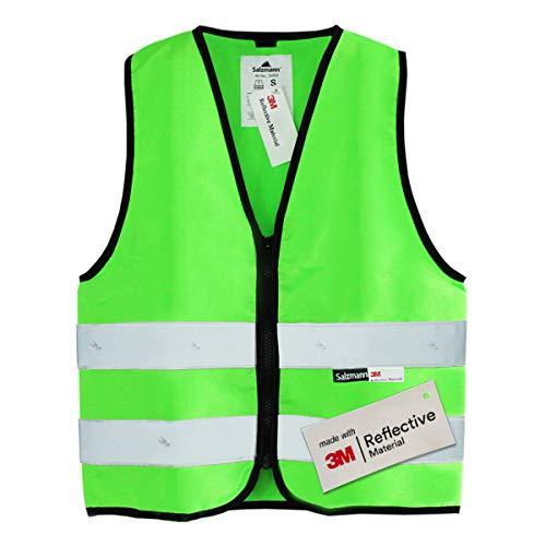 Salzmann 3M Chaleco de Seguridad para niños | Hecho con Cinta Reflectante 3M | Verde