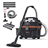 TACKLIFE Wet Dry Vac, 5 Peak Hp Wet Dry Vacuum 4 Gallon, Wet/Dry Suction, Blow 3 in 1 Function Portable Shop Vacuum, Suitable for Indoor and Outdoor - PVC01B