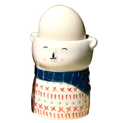 Juego de hueveras con Forma de Oso para niños, 5,8 x 6,6 cm, de Porcelana