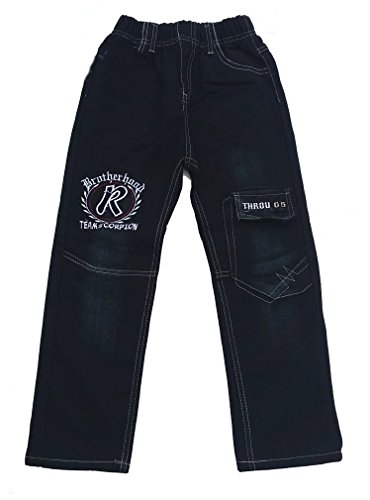 Hongfa Bequeme Jeans mit rundum Gummizug in schwarz, Gr. 92/98, J293.2e