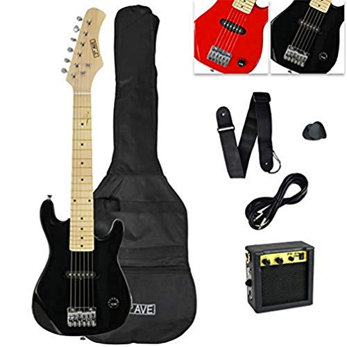 3rd Avenue STX30BKPK Paquete de guitarra eléctrica junior, Negro