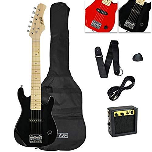 3rd Avenue Pack de guitarra acústica con Cutaway Junior para principiantes con amplificador, cable, funda de transporte y correa, Negro