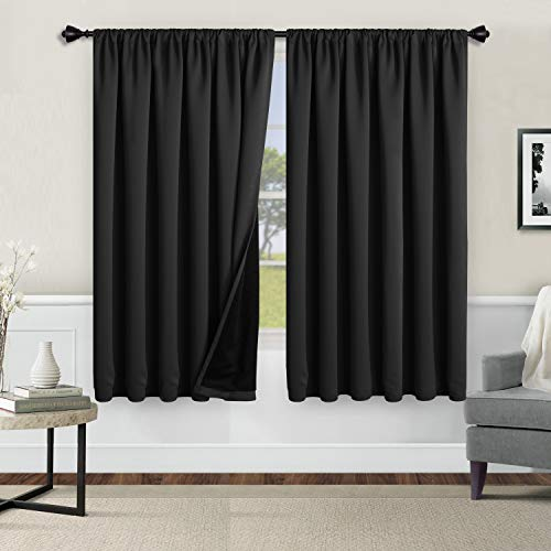 WONTEX 100% Thermal Blackout Curtains for Bedroom - Winter...