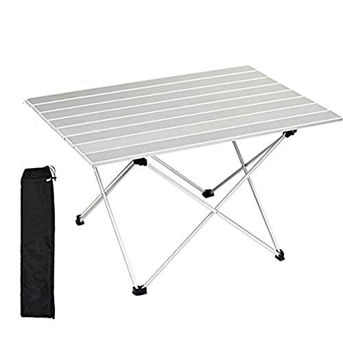 B-D Aluminum Folding Camping Table, Garden Table Side Table Folding Picnic Table Foldable And Height Adjustable Prefect for Outdoor Picnic Cooking Beach Hiking Fishing