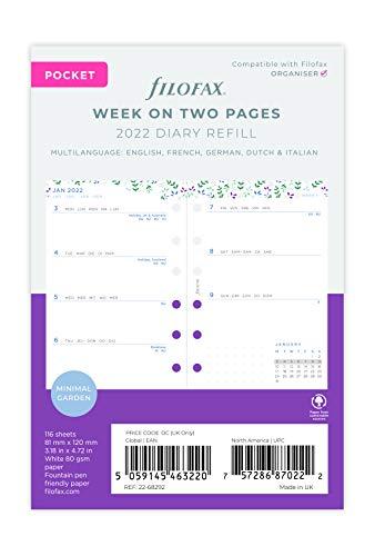 Filofax - Agenda tascabile con visualizzazione settimanale, 2022