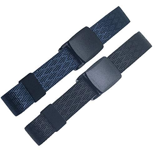 "WYuZe 1.25"" Wide Nylon Belt 2 Pack No Metal Adjustable Military Web Belt"