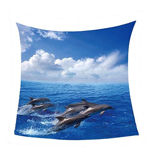 WSSHUIYI Mantas de Franela Bedclothes Salto del delfín Manta de Bebé Unisex Suave y Cómoda Siesta 3D Microfibra Todas Temporada Cálido Sofás Mantas para Cama Edredón de Retazos-S(130X150CM)