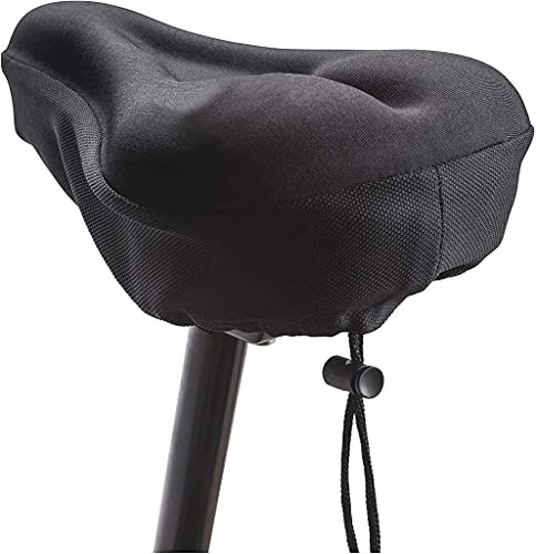 MOFRED Black Bike Bicycle Extra Comfort Soft Gel Seat Saddle Cushion Cover- Designed in the UK