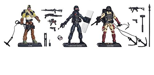G.I. Joe, 50th Anniversary, Rock Rampage Action Figure Set [Alpine, Shock Trooper, and Rock Viper], 3.75 Inches