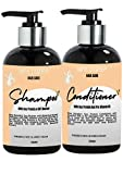 nina dorada Soy Protein (Keratin) Shampoo and Conditioner Combo Pack with DHT Blocker for Strong, Smooth & Shine Hair | Paraben Free and No SLS Shampoo for Men and Women | 300ml Each