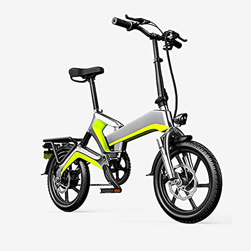 wdd Scooter automático de 400W para Adultos con 3 Modos de equitación, Bicicleta eléctrica de 16 Pulgadas con Pantalla LCD, y Frenos de Disco Dual, Bicicletas portátiles con GPS