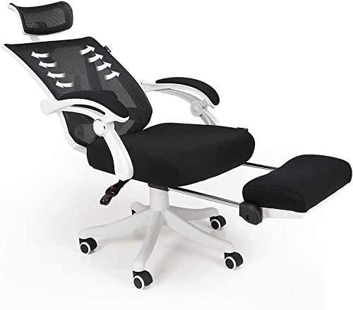 Ejecutivo Boss Chair, silla de malla de oficina, se adapta al cuerpo, ergonómica, silla de oficina con respaldo alto de malla completa para escritorio, silla con soporte ajustable Arms