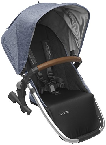 2018 UPPAbaby Vista RumbleSeat-Henry (Blue Marl/Silver/Saddle Leather)