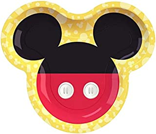 """Mickey Mouse Shaped Plates 9"""" 