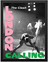 Hanging Painting - CLASH Crush (London Calling 40th Anniversary) - London Calling Poster Black Photo Frame, Fashion Painting, Wall Decor, Family Mural Decor 40*60cm unframed