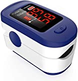 Saturimetro Pulsossimetro da Dito Professionale con Display LCD per misurare i Livelli di ossigeno...