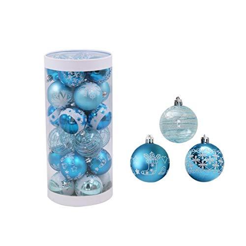 MICHAELA BLAKE 24pcs / Lot 6cm Ornamentos Colgantes, Party Decor Bola del árbol de Navidad Que cuelgan Favor Ornamento de la chuchería de Gota Colgante de la decoración del Partido de Navidad