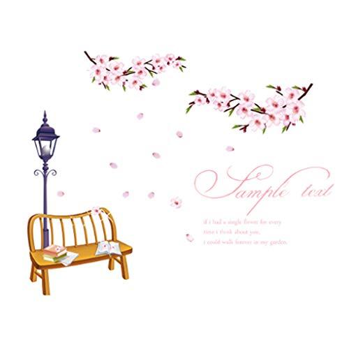 Jolis stickers muraux amovibles en PVC pour chambre d'enfant Motif animaux de dessins animés Fleurs Papillons Arbres Décoration intérieure Chambre à coucher Cuisine Chambre d'enfant