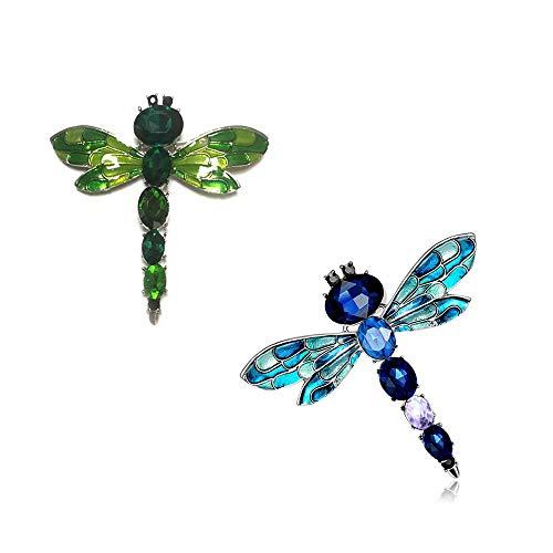 Broche de la libélula de la Vendimia de Dos señoras de la Bufanda Hebilla Ramillete, se Puede Utilizar para la Broche Nupcial DIY, Vestido de Novia, Vestido de decoración, Cinturón